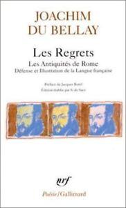 Les Regrets Joachim Du Bellay : regrets, joachim, bellay, Regrets, Antiquites, (Pobesie), (French, Edition), Bellay,, Joachi, 9782070321476