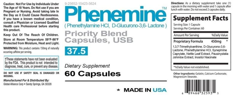 1 Phenemine Max Strength Weight Loss Fast Strong Appetite Suppressant Diet Pills