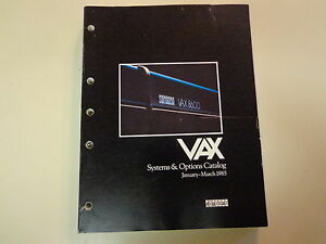 DEC Digital Equipment Corporation VAX Systems and Options ...