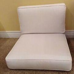 White Lounge Chair Cushions Handicap Lift 2 Pc Frontgate Metropolitan Outdoor Club Cushion 25x28 Image Is Loading