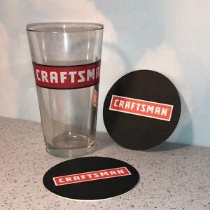 CRAFTSMAN TOOLS COLLECTIBLE DRINKING GLASS CUP MUG 16 OZ ...