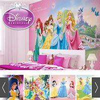 DISNEY PRINCESSES WALL MURAL PHOTO WALLPAPER GIRLS BEDROOM ...