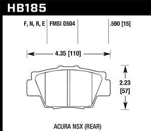 Disc Brake Pad Set-HP Plus Disc Brake Pad Rear Hawk Perf