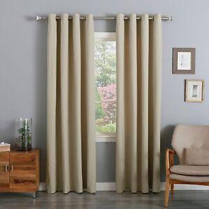 WAREHOUSE SALE Cotton Twill Opaque Curtain Set EBay