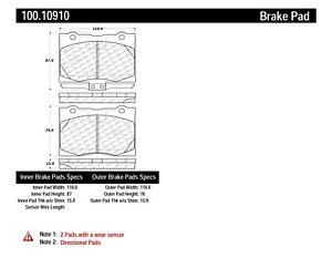 Disc Brake Pad Set-OE Formula Brake Pads with Hardware