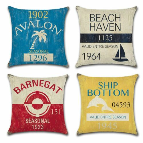 new jersey beach cushion cover for 18 x 18 inch nautical pillow inserts home decor home decor pillows