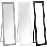 Free Standing Floor Mirror Black White Grey Wood Cheval ...