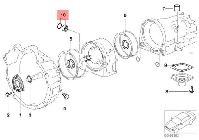 Genuine BMW E34 E36 E39 E46 Z3 AT Seal Cover Repair Kit