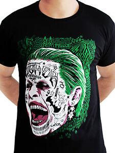 The Joker Suicide Squad Tattoo Face Dark Knight Dc Comics Black Mens