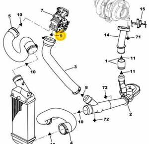Citroen Peugeot 2.0 2.2 HDi Air Doser to Turbo Air Pipe