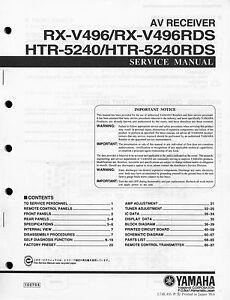 Yamaha rx-v496 rx-v496rds htr-5240 htr-5240rds/Service