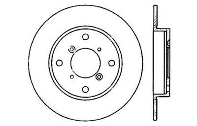 Disc Brake Rotor Rear Centric 121.48003 fits 1994 Suzuki