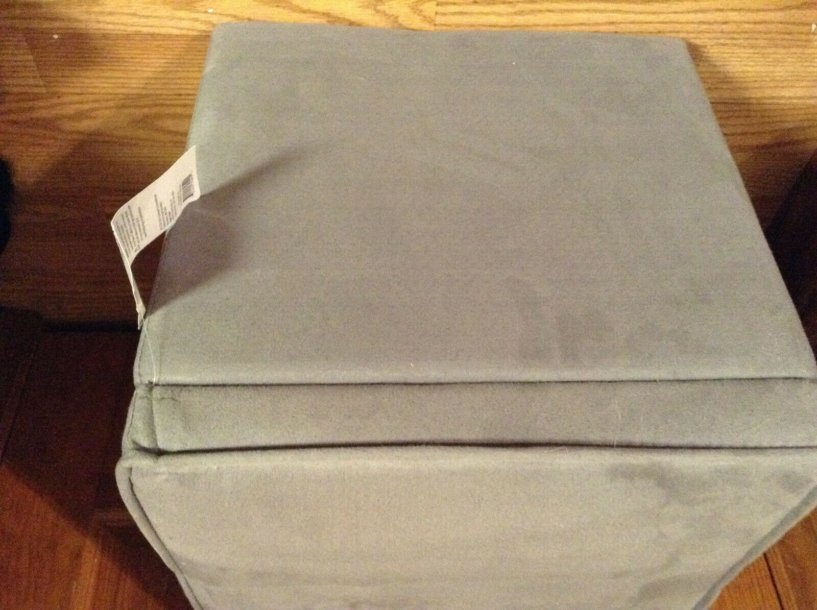 new room essentials faux suede storage ottoman grey nwt local pick up only