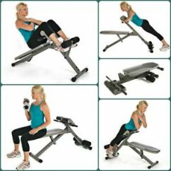 Ab Cruncher Chair Orange Leather Club Stamina Hyper Bench Pro Adjustable Extension Back Exercise Image Is Loading