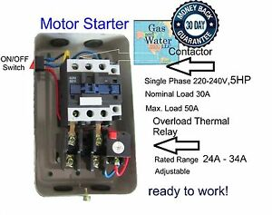single phase run capacitor wiring diagram 1986 mazda b2000 stereo compressor motor free for you magnetic starter control 5 hp 220 240v a c