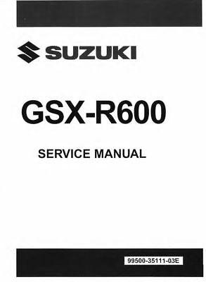 Suzuki GSX-R600 2008 2009 2010 GSXR 600 GSX-R service