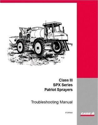 case ih spx series patriot sprayer troubleshooting manual 87265690 ebay