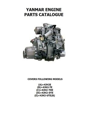 YANMAR ENGINE 4JH2 E/TE/THE/DTE/UTE(B) PARTS MANUAL