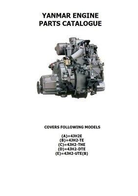 YANMAR ENGINE 4JH2 E/TE/THE/DTE/UTE(B) PARTS MANUAL