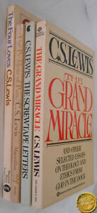 4 C.S. Lewis The Problem of Pain Grand Miracle Screwtape Letters Four Loves Pb   eBay