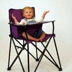 Baby Camping High Chair Portable Potty Purple Folding Travel Video Ciao Image Is Loading