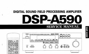 YAMAHA DSP-A590 DIG SOUND FIELD PROCESSING AMPLIFIER