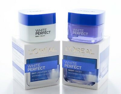 50ml L'OREAL PARIS WHITE PERFECT DAY & NIGHT CREAM WHITENING EVEN ...
