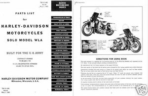 HARLEY DAVIDSON WLA MILITARY MOTORCYCLE PARTS SERVICE
