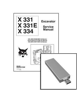 Bobcat X331 E X334 Excavator Workshop Service Repair