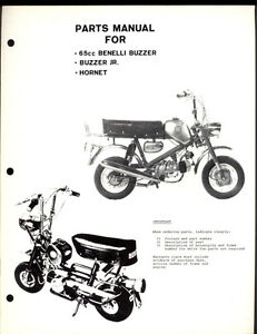 BENELLI BUZZARD & Jr. / HORNET 65cc / 65 PARTS MANUAL
