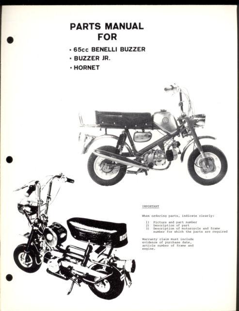 BENELLI BUZZARD & Jr. / HORNET 65cc / 65 PARTS MANUAL
