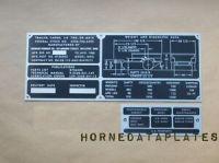JOHNSON FURNACE CO. M416 TRAILER DATA PLATES ID TAGS M38 ...