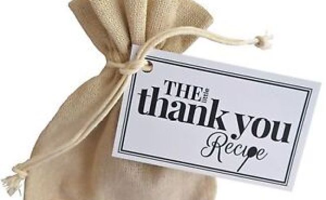 The Little Thank You Recipe Unique Thoughtful Gift Token