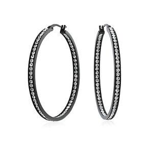 Bling Jewelry Black Stainless Steel Cubic Zirconia Inside