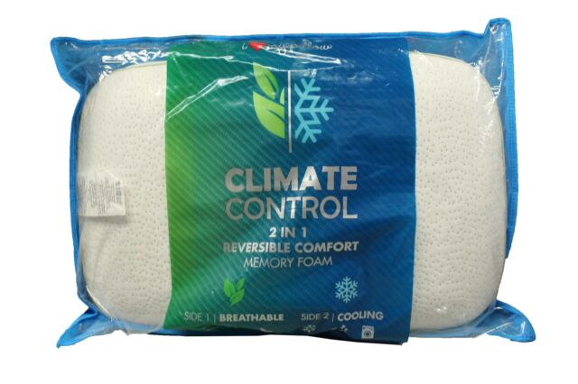 i love my pillow climate control 2 in 1 reversible comfort memory foam pillow