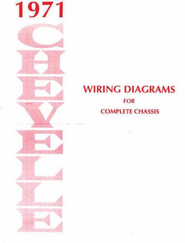 1971 chevelle el camino wiring diagram ebay