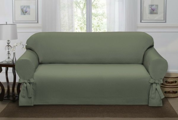Sage Green Loden Lucerne Sofa Slipcover Couch Cover Chair 4 Colors