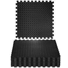 tectake tapis de protection de sol 12 pieces noires 402255