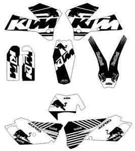 kit pegatinas ktm exc-sx 125-525 2005, 2006, 2007, sticker