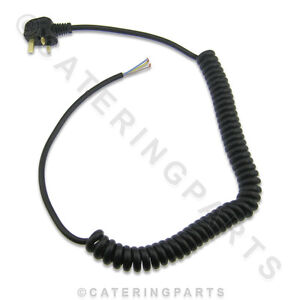 MF01 COILED MAINS FLEX WIRE CABLE 13 AMP WITH MOULDED PLUG