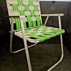 Aluminum Web Lawn Chairs Dining Room Chair Covers South Africa 1970 S Folding Webbed Arms Green Image Is Loading 039