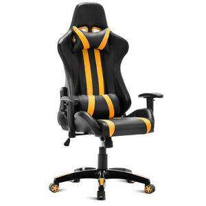 comfortable office chairs for gaming wooden church chair executive racing style high back reclining image is loading