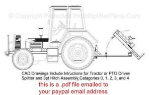 3-Point Hitch Tractor Vertical Wood-Log Splitter Plans