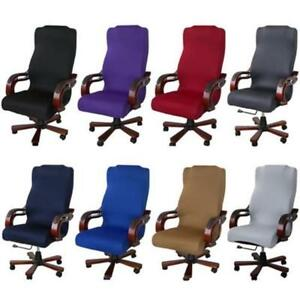 swivel chair covers upholstery fabric for chairs universal stretch cover computer office seat image is loading