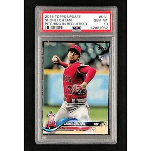 2018 Topps Update #US1 SHOHEI OHTANI Pitching In Red RC ...