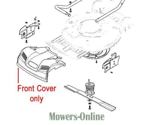 Mountfield Stiga Front Cover Grey Plastic 322226098/1