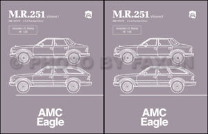 AMC Eagle Shop Manual 1984 1985 1986 1987 1988 Repair