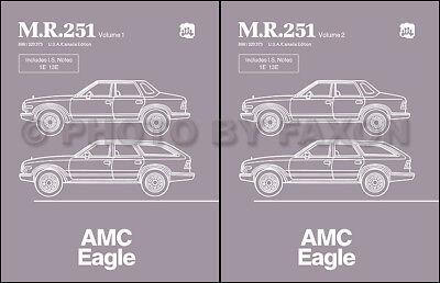 AMC Eagle Shop Manual 1984 1985 1986 1987 1988 Repair