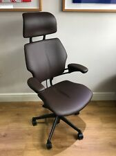 freedom task chair with headrest life chairs for elderly humanscale sale online ebay item 4 chocolate leather ergonomic office 2 years war