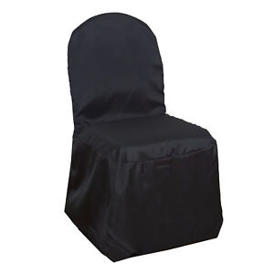 black chair covers ebay desk parts 100 pcs polyester banquet wedding reception party image is loading